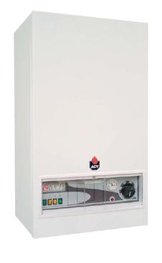 caldera eléctrica marca ACV  modelo E-Tech W 09 monofásica de 4,2 / 8,4 Kw.Caldera mural eléctrica para calefacción .Producción de agua caliente sanitaria opcional.