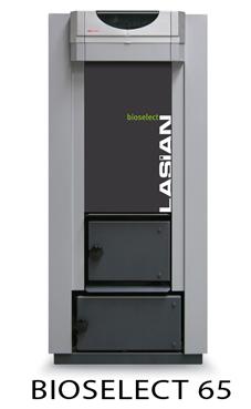 Lasian modelo BIOSELECT 55 caldera de pie de policombustibles sólidos(para pellets, cascara de almendra, orujillo, hueso de oliva,etc,...) de 55 KW.solo calefacción. caldera de biomasa para policombustibles
