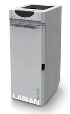 Lasian modelo BIOSELF 24 caldera de pie modulante de policombustibles sólidos(pellets, cascara de almendra, orujillo, hueso de oliva,etc,...) de 24 KW.solo calefacción.(20.640 Kcal./h.) caldera de biomasa para policombustibles