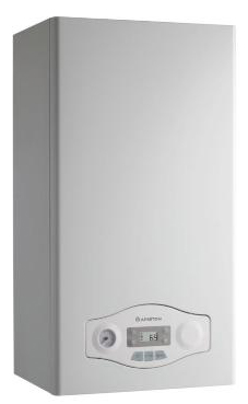 Ariston modelo EGIS PLUS 24 FF  de 24 KW con barra de conexiones y kit de evac. caldera de gas natural mural mixta estanca