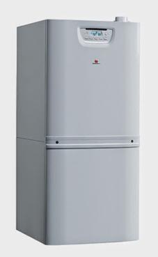 Saunier-duval modelo DUOMAX CONDENS 35 mixta 32,5/34,7 KW (calefacción y acs) con acumulador de 90 litros, incluye kit de tubos para recirculación Duomax y Kit de conexiones. caldera de gas natural mural estanca para instalar de pie