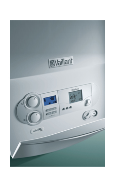 Vaillant modelo TURBO TEC PLUS de 28/32 KW  (VMW ES 28/322/4-5) con plantilla y kit evac. caldera de gas natural mural mixta estanca