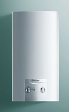 Vaillant modelo Turbomag ES 17-2/0 E con kit de evacuación. calentador de gas natural estanco