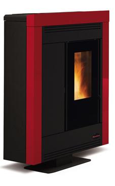 NORDICA-EXTRAFLAME SOUVENIR STEEL 3,7-10,2 kW Revestimiento en acero barnizado. Hogar en fundición extraíble. Cajón extraíble para la ceniza. Vitro cerámico resistente a 750°. Colores: Blanco , negro antracita, y burdeos.