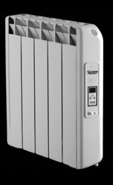 radiador de bajo consumo marca Farho  modelo ELEGANCE TDE-13, radiador de bajo consumo de 1229,8 Kcal/h, con termostato digital